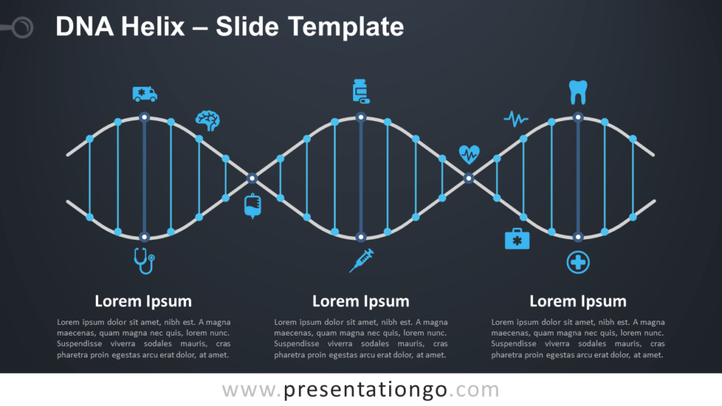 Free DNA Helix Infographic for PowerPoint and Google Slides