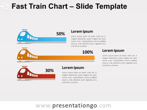 Free Fast Train Chart for PowerPoint
