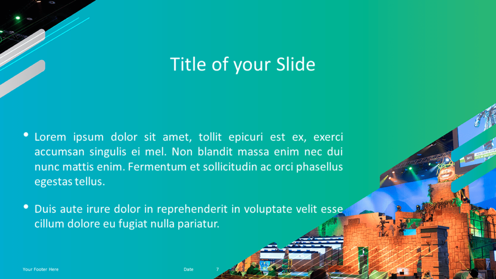 Free Gaming Template for Powerpoint and Google Slides - Panoramic Picture with Caption