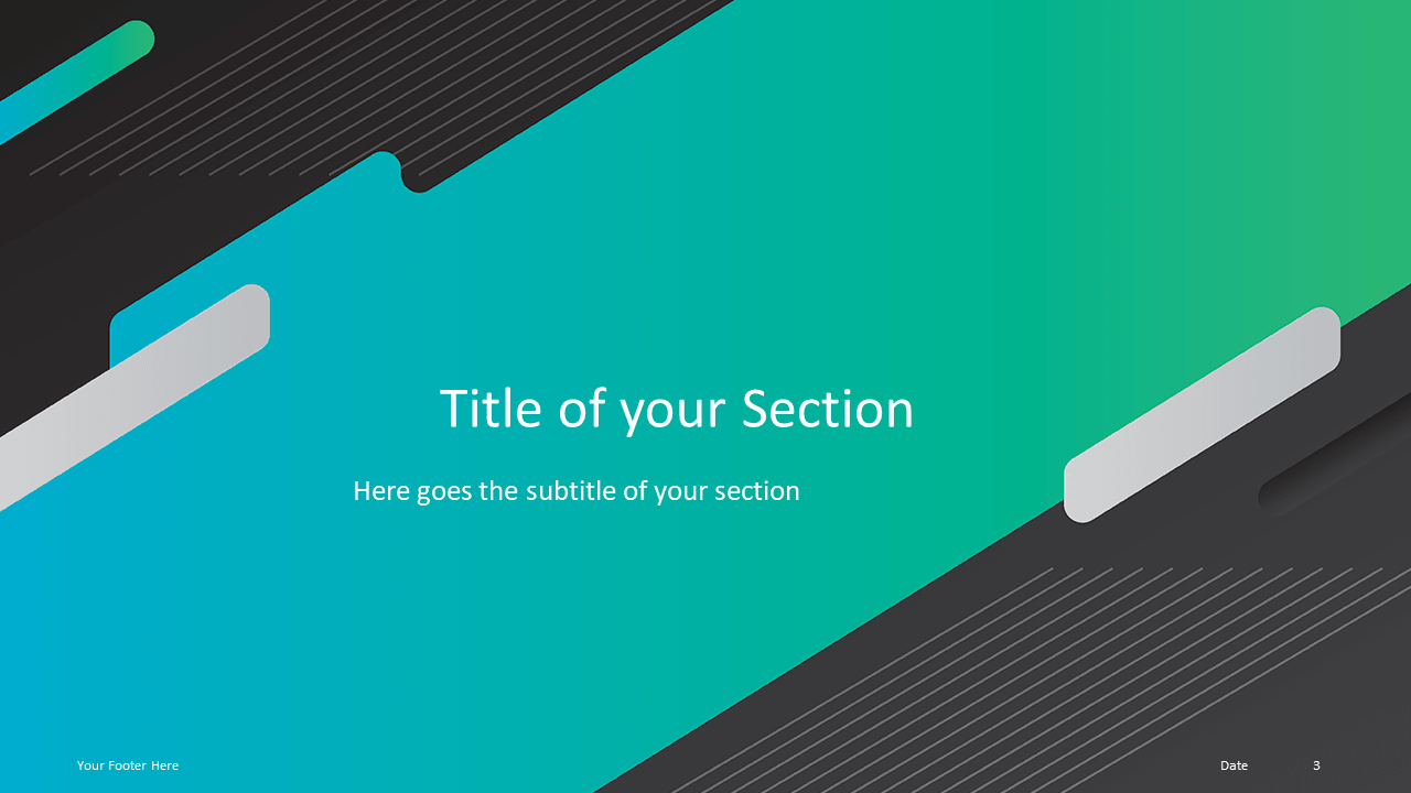 Free Gaming Template for Powerpoint and Google Slides - Section Header Alternative