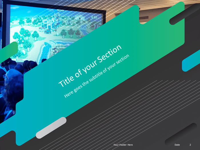 Free Gaming Template for Powerpoint - Section Header