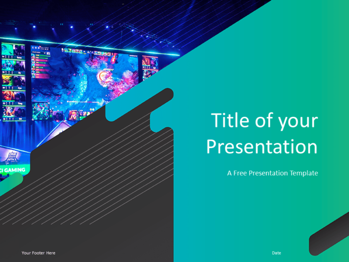 Free Gaming Template for Powerpoint - Title Slide