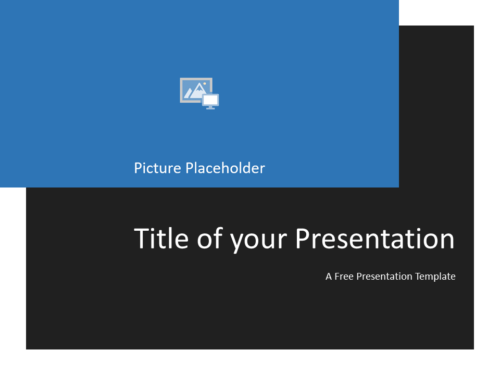 Free Gray Frame Template for Powerpoint - Title Slide
