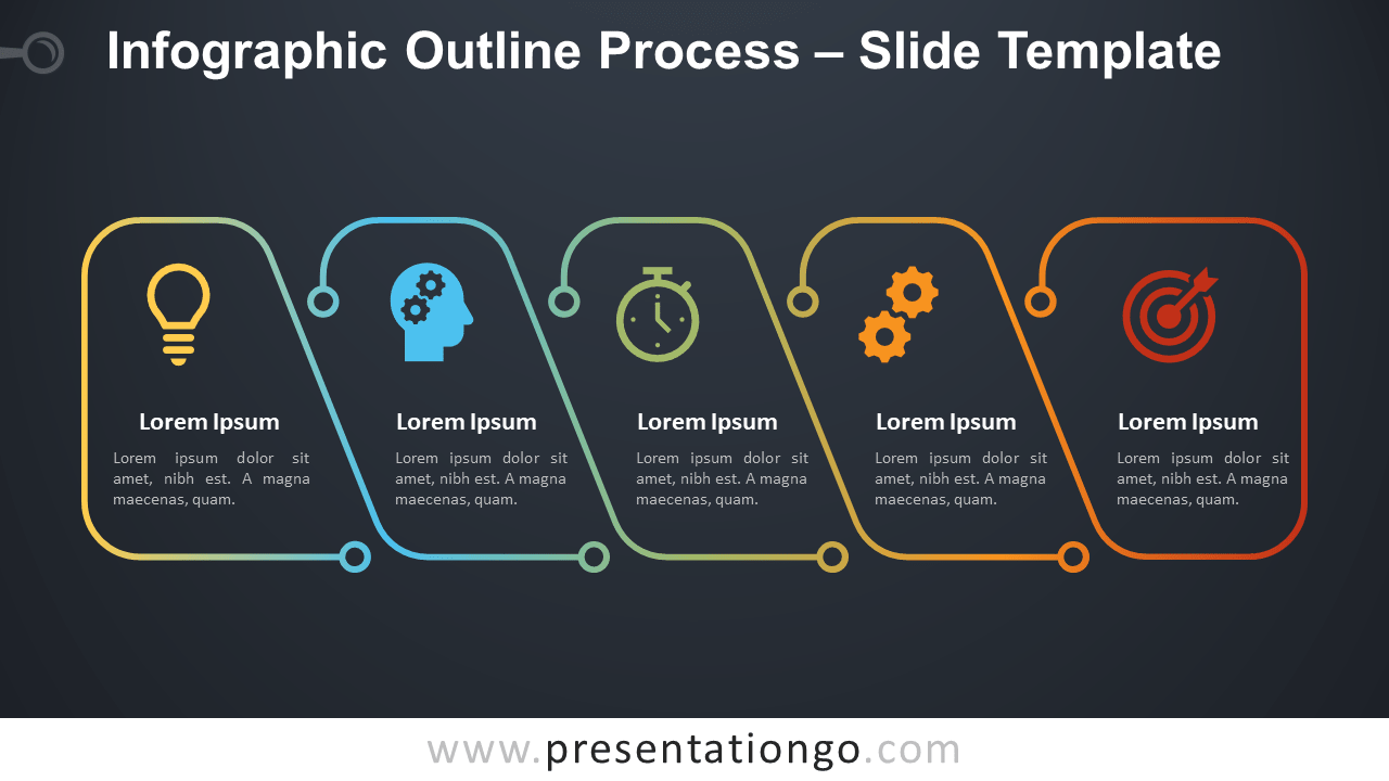 Free Infographic Outline Process Infographic for PowerPoint and Google Slides