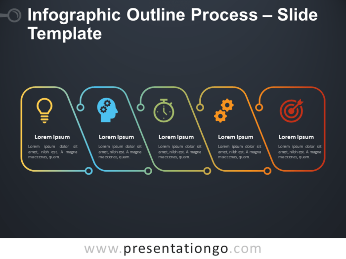 Free Infographic Outline Process for PowerPoint