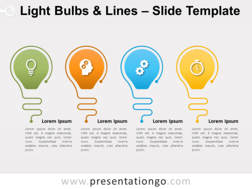 Free Light Bulbs Lines for PowerPoint