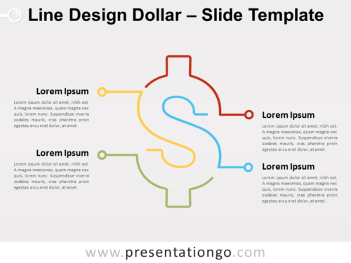 Free Line Design Dollar for PowerPoint