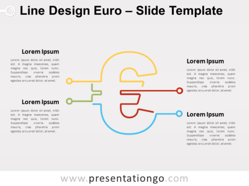 Free Line Design Euro for PowerPoint