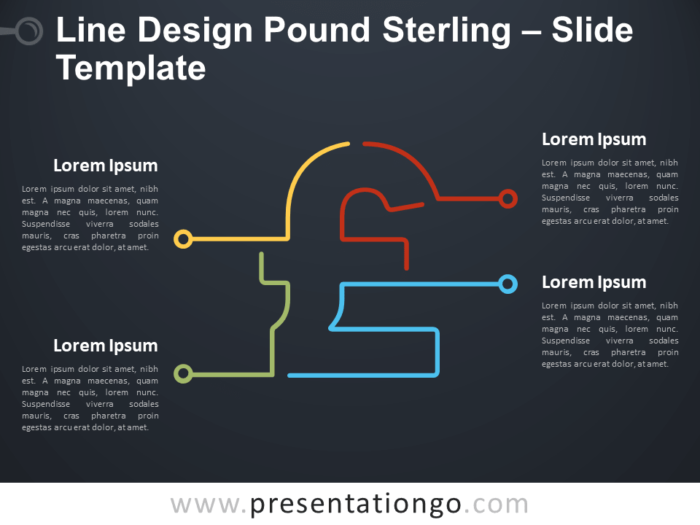 Free Line Design Pound Sterling Infographic for PowerPoint