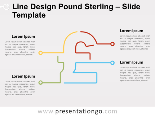 Free Line Design Pound Sterling for PowerPoint