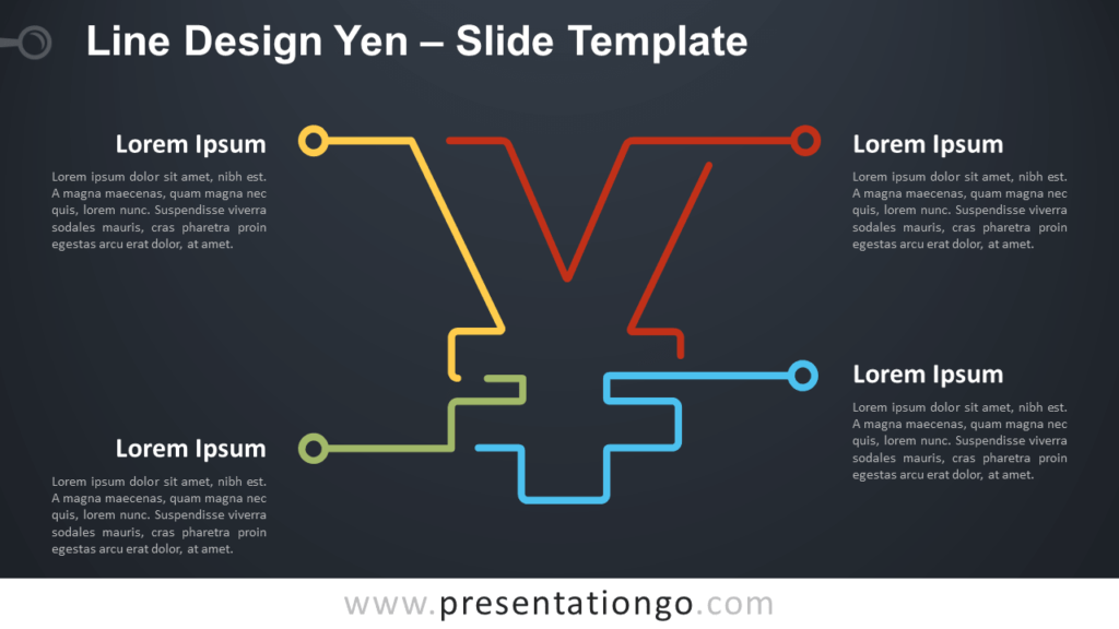 Free Line Design Yen Infographic for PowerPoint and Google Slides