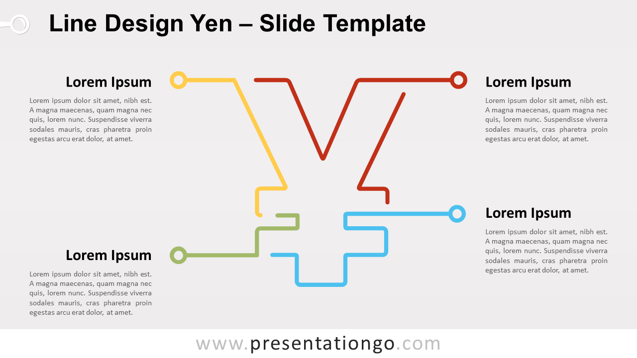 Free Line Design Yen for PowerPoint and Google Slides