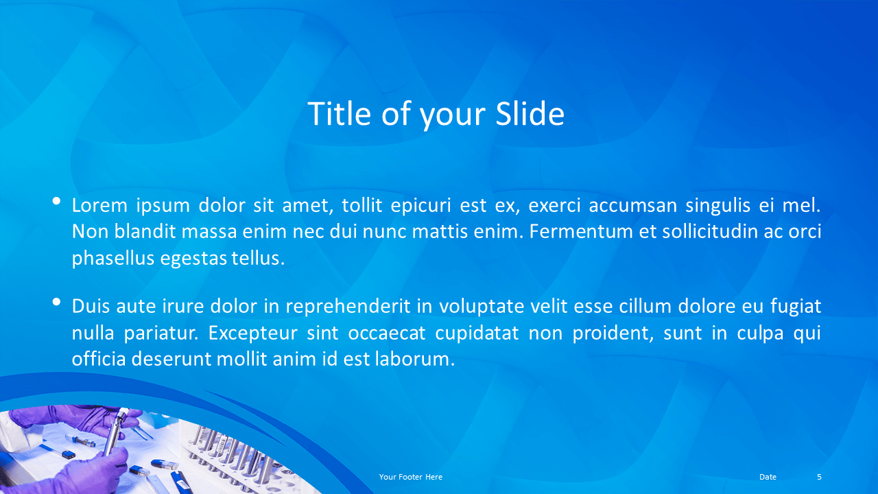 Free Medical Research Template for Powerpoint and Google Slides - Title Content Alternative