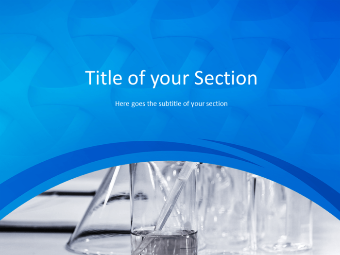 Free Medical Research Template for Powerpoint - Section Header Alternative