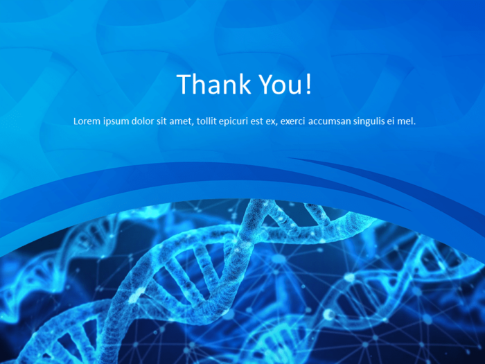 Free Medical Research Template for Powerpoint - Thank You