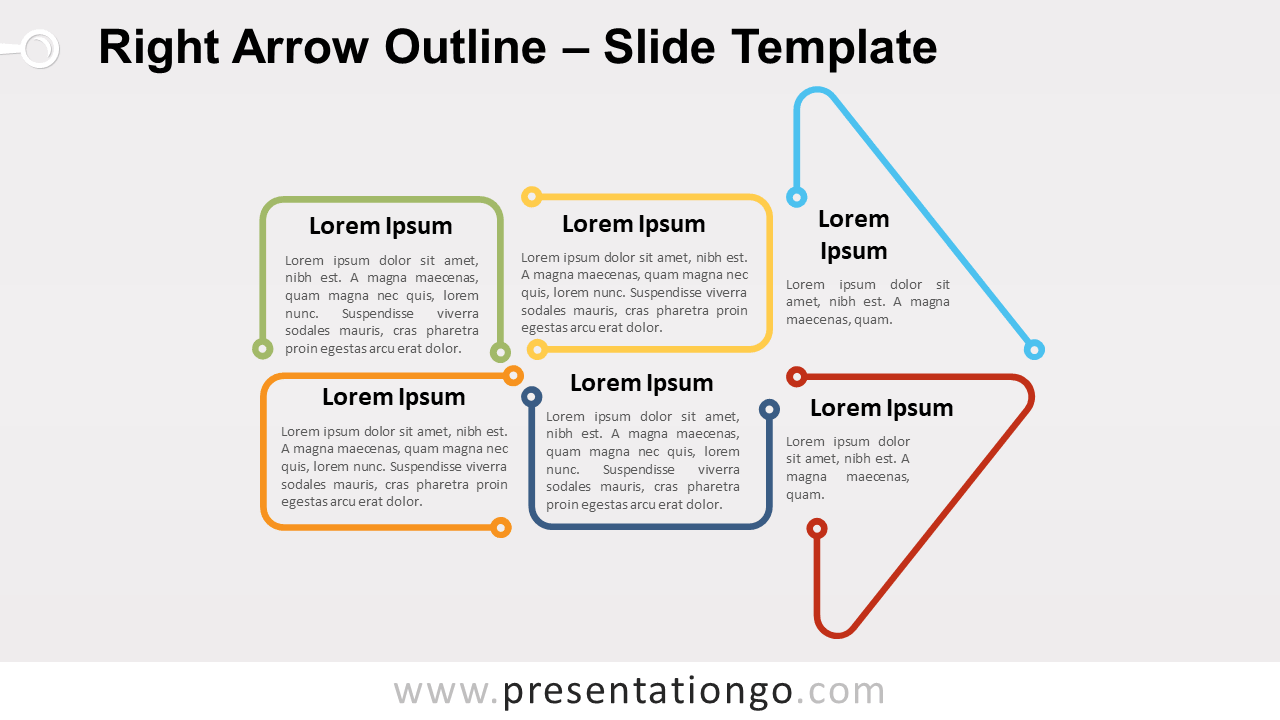 Free Right Arrow Outline for PowerPoint and Google Slides