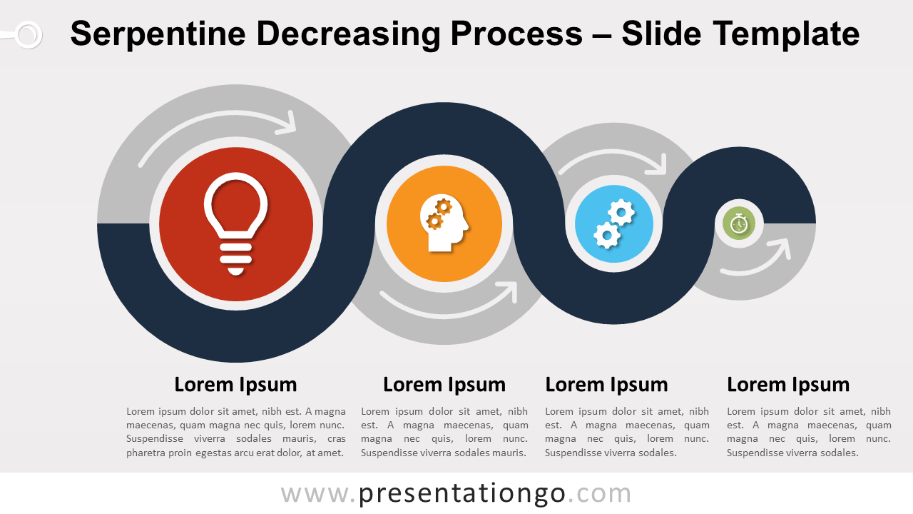 Free Serpentine Decreasing Process for PowerPoint and Google Slides