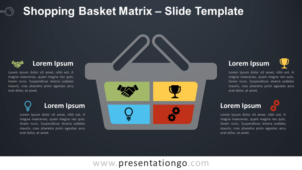Free Shopping Basket Matrix Infographic for PowerPoint and Google Slides