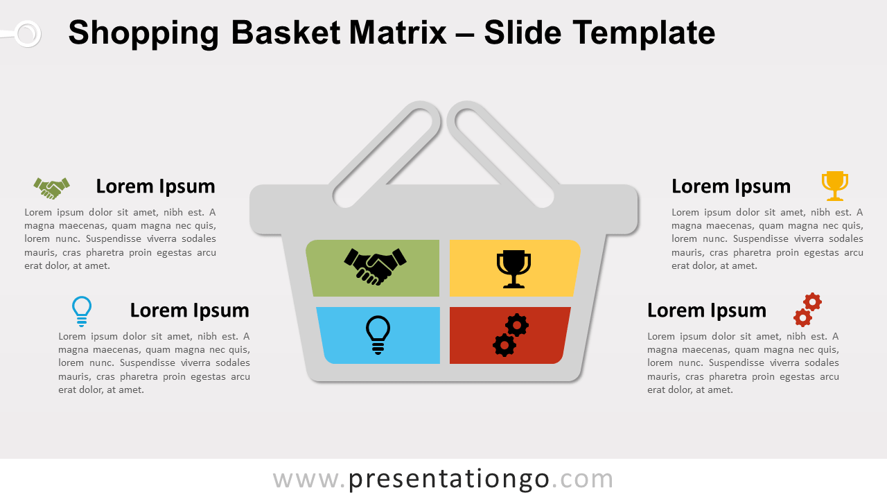 Free Shopping Basket Matrix for PowerPoint and Google Slides