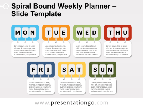 Free Spiral Bound Weekly Planning for PowerPoint