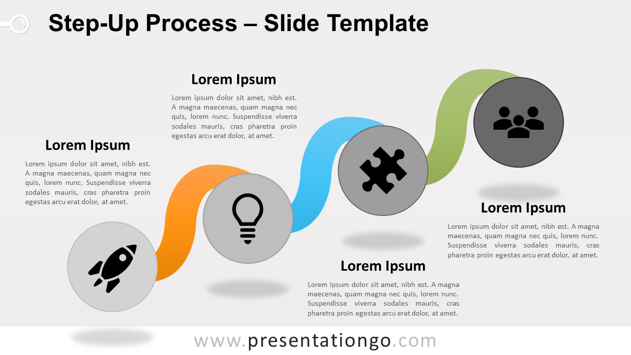Free Step-Up Process for PowerPoint and Google Slides