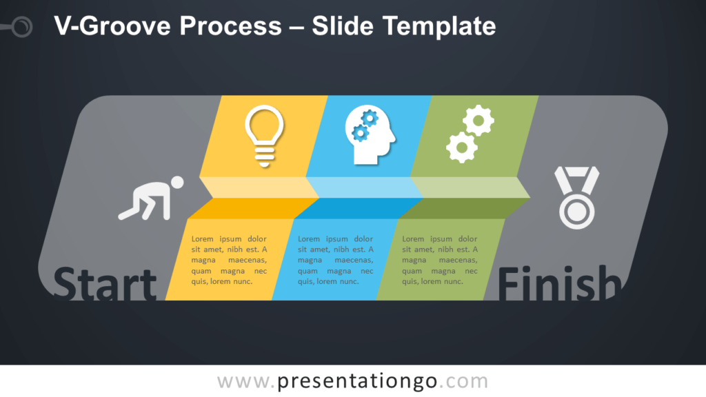 Free V-Groove Process Infographic for PowerPoint and Google Slides