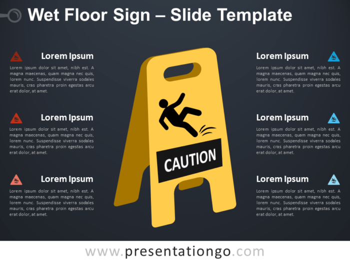 Free Wet Floor Sign Infographic for PowerPoint