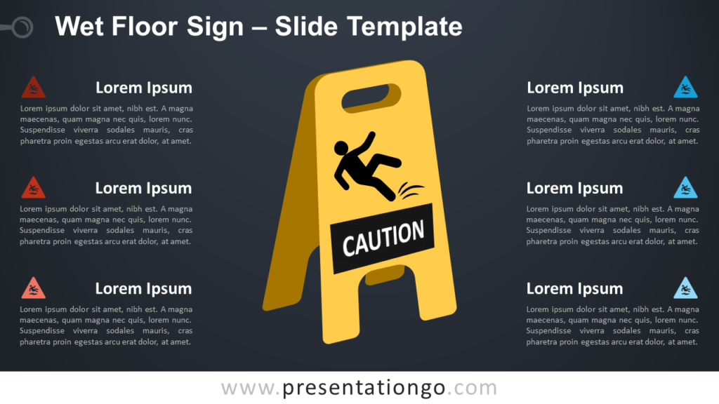 Free Wet Floor Sign Infographic for PowerPoint and Google Slides