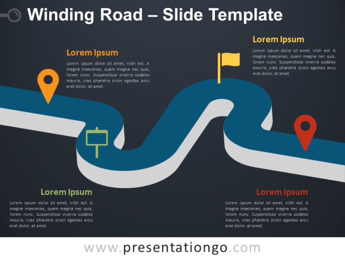 Free Winding Road Infographic for PowerPoint