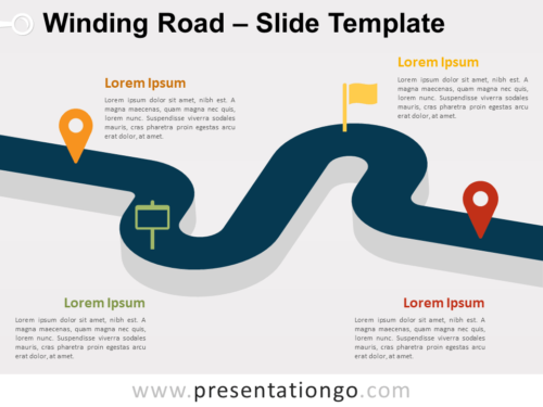 Free Winding Road for PowerPoint