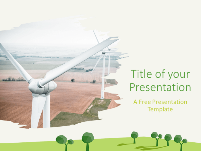 Free ECOLOGY Nature Template for PowerPoint - Cover