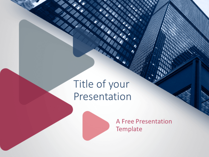 Free Finance & Business Template for PowerPoint - Cover