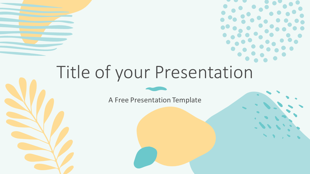 Free MEMPHIS Abstract Template for Google Slides - Cover