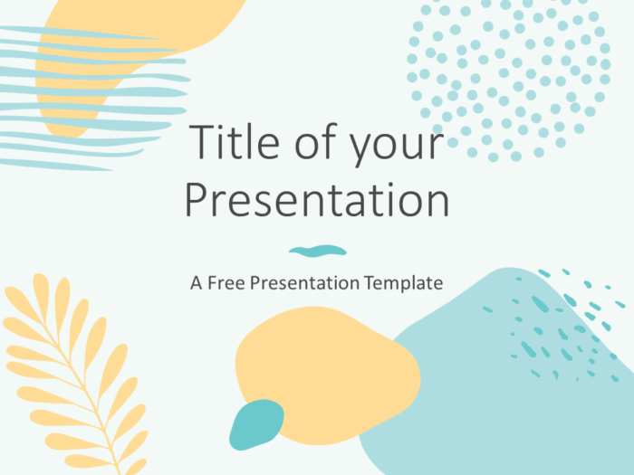 Free MEMPHIS Abstract Template for PowerPoint - Cover