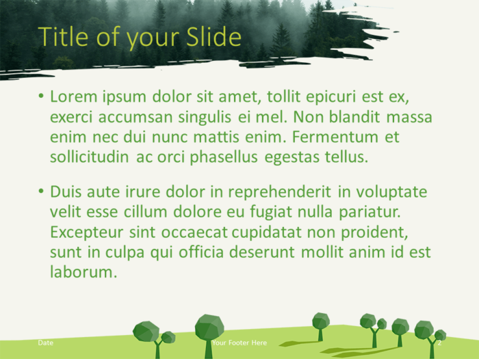 Free ECOLOGY Nature Template for PowerPoint - Title Content (variant 1)
