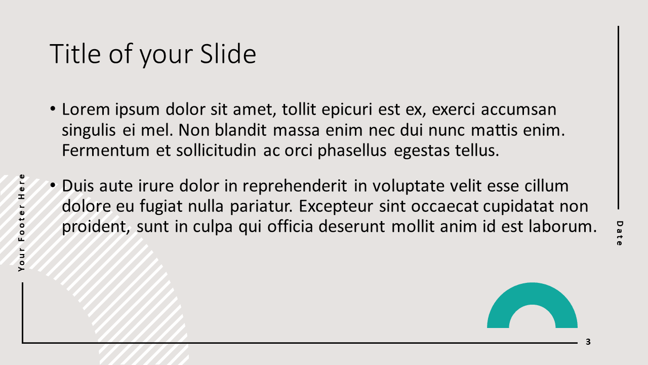 Free Abstract Geometry Template for Google Slides - Title Content (variant 2)