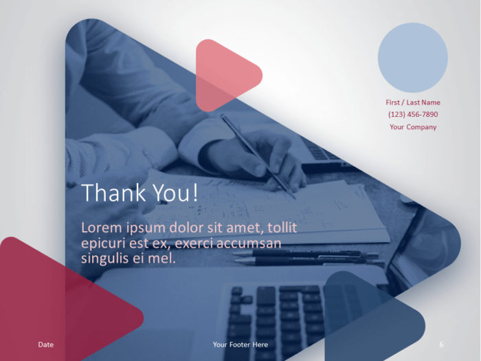Free Finance & Business Template for PowerPoint - Closing