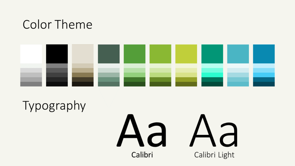 Free ECOLOGY Nature Template for Google Slides - Colors Fonts