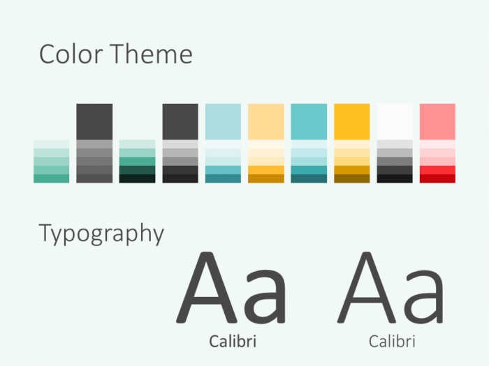 Free MEMPHIS Abstract Template for PowerPoint - Colors Fonts
