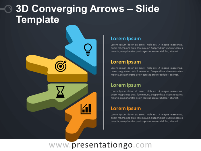 Free 3D Converging Arrows Infographic for PowerPoint