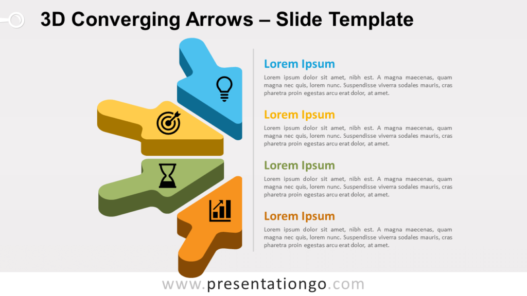 Free 3D Converging Arrows for PowerPoint and Google Slides