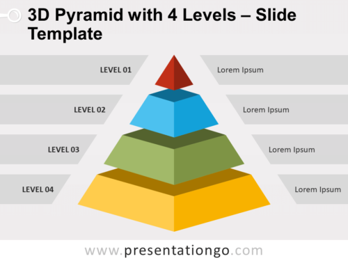 Free 3D Pyramid with 4 Levels for PowerPoint