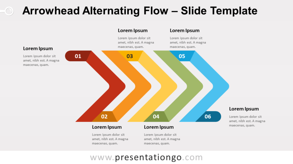 Free Arrowhead Alternating Flow for PowerPoint and Google Slides