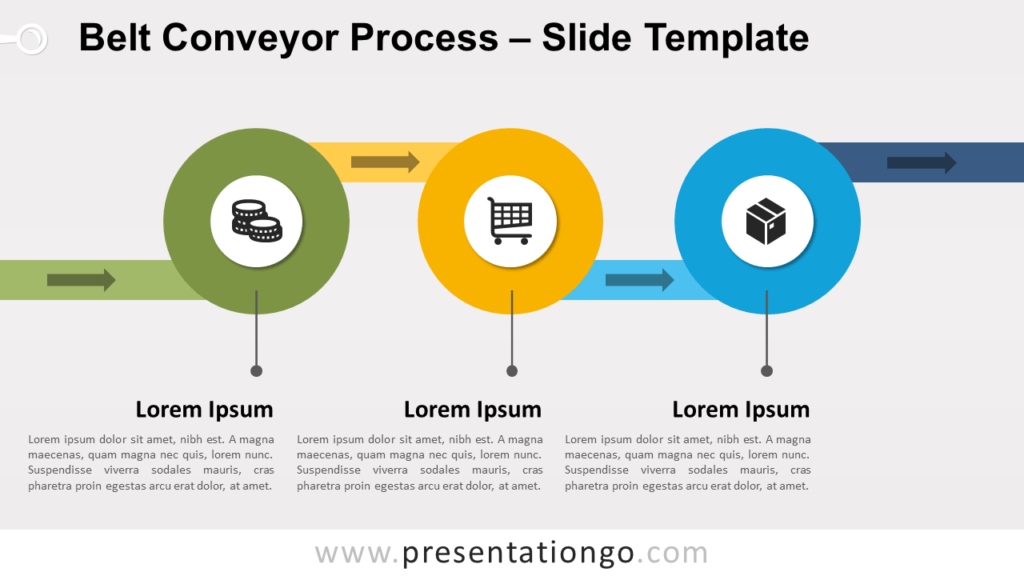 Free Belt Conveyor Process Infographic for PowerPoint and Google Slides