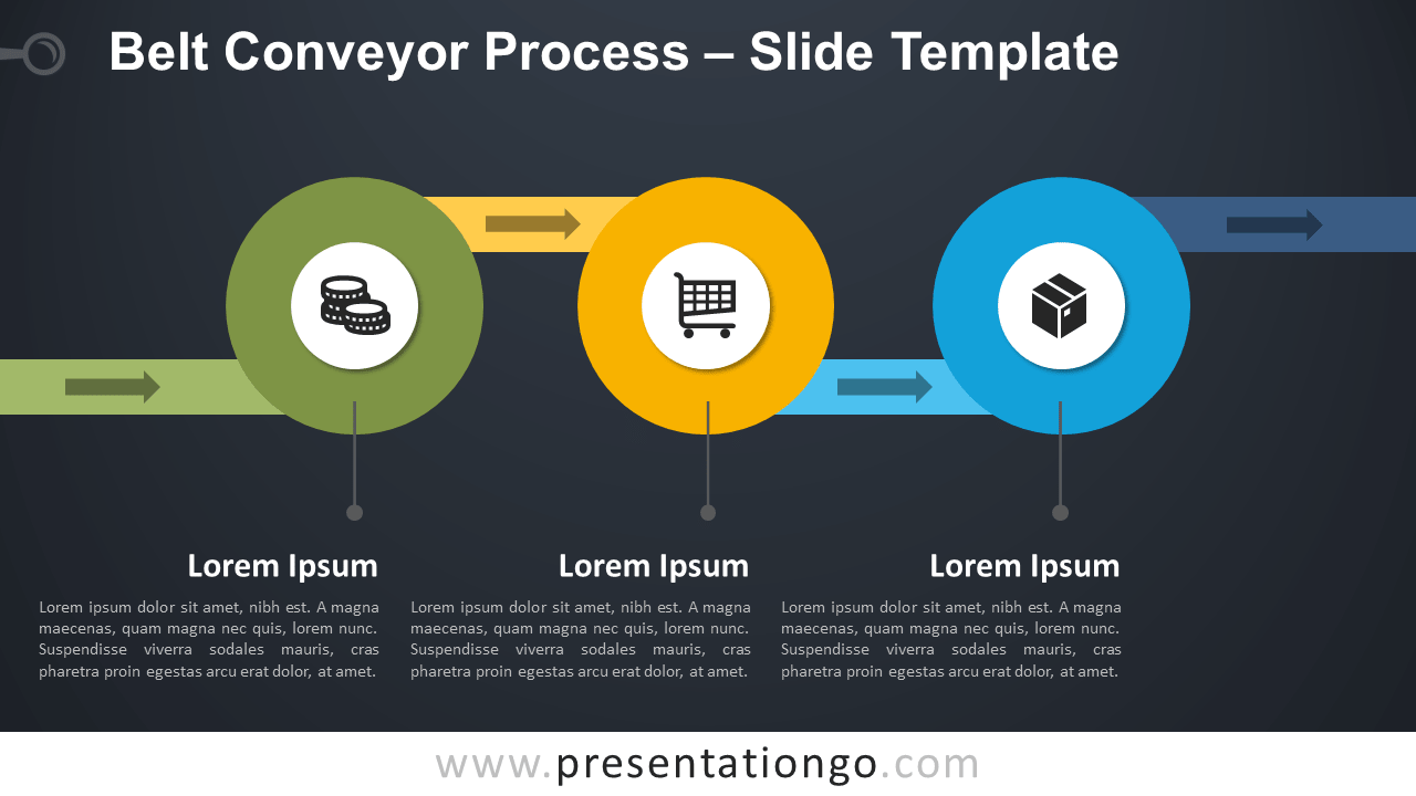 Free Belt Conveyor Process Template for PowerPoint and Google Slides
