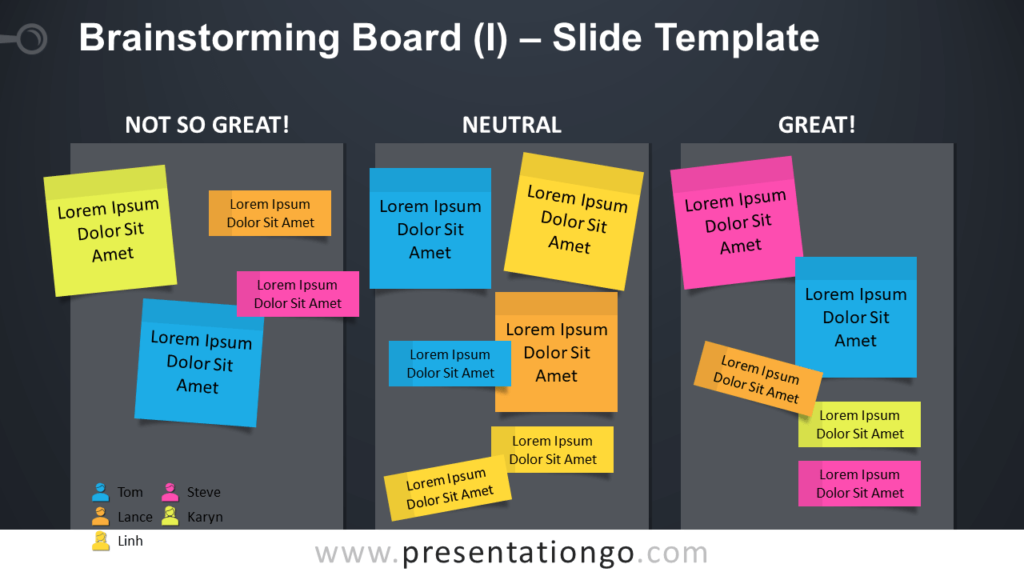 Free Brainstorming Board Table for PowerPoint and GoogleSlides