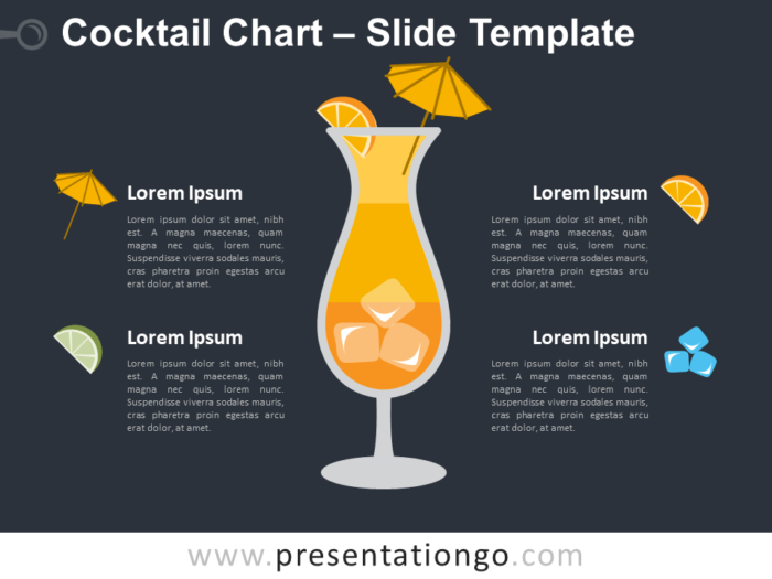 Free Cocktail Chart Infographic for PowerPoint