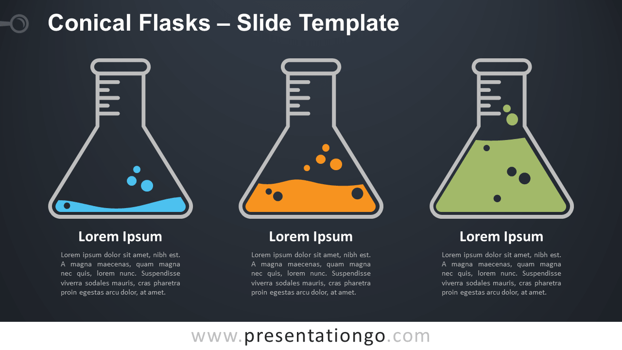 Free Conical Flasks Infographic for PowerPoint and Google Slides