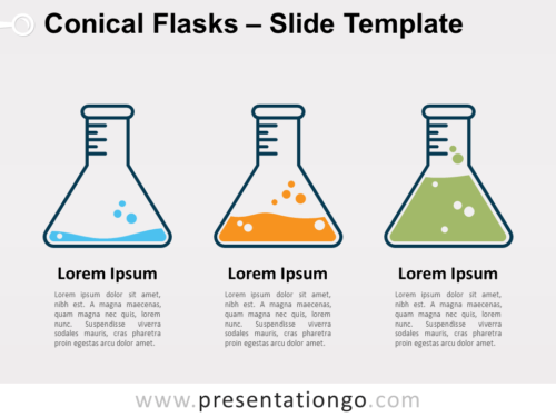Free Conical Flasks for PowerPoint