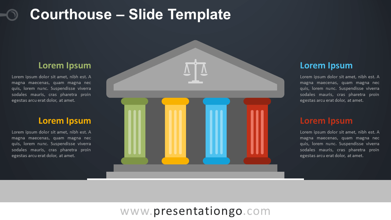 Free Courthouse Template for PowerPoint and Google Slides